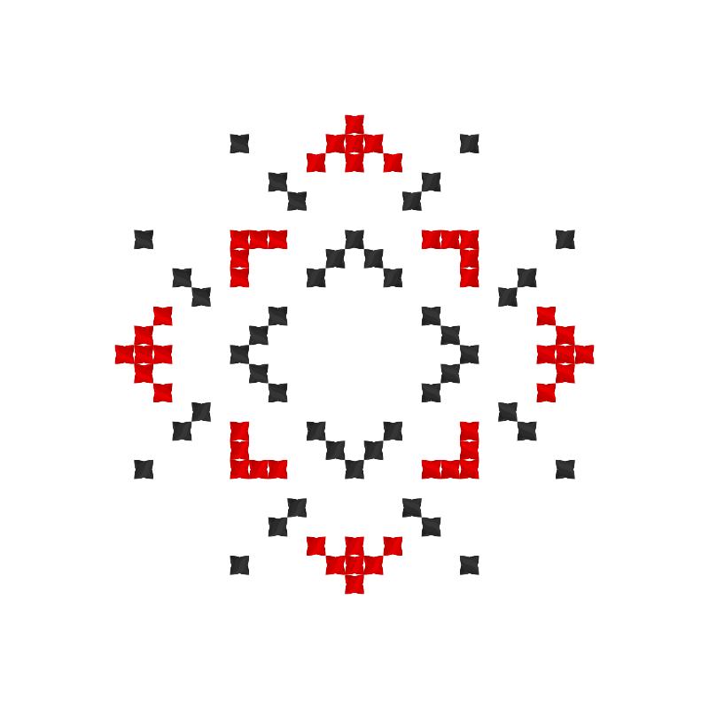 Текстовий слов'янський орнамент: Лілія