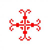 Текстовый украинский орнамент: завіток
