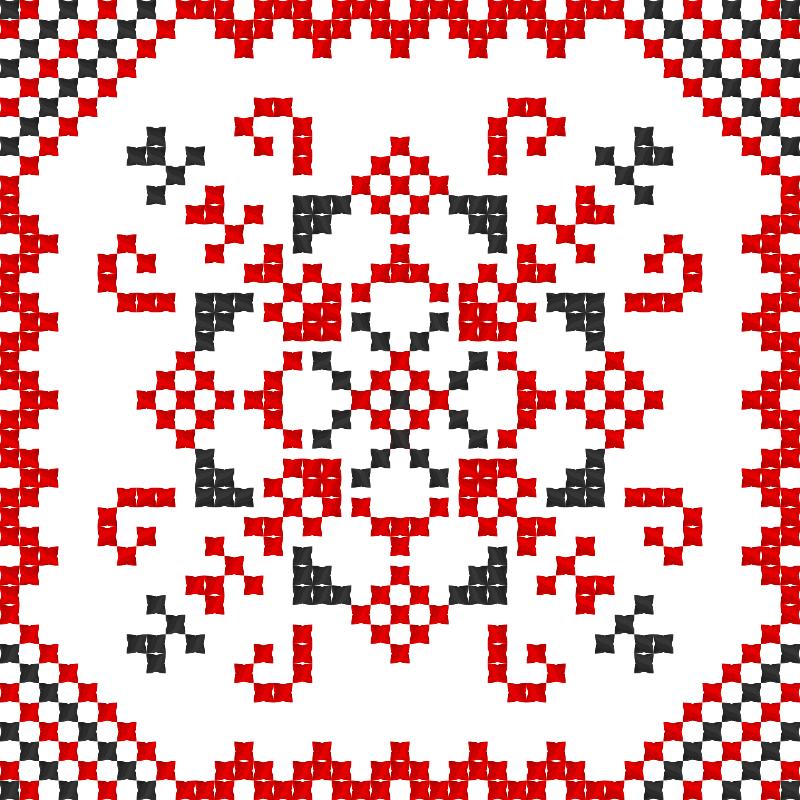 Текстовий слов'янський орнамент: Зла Казкарка
