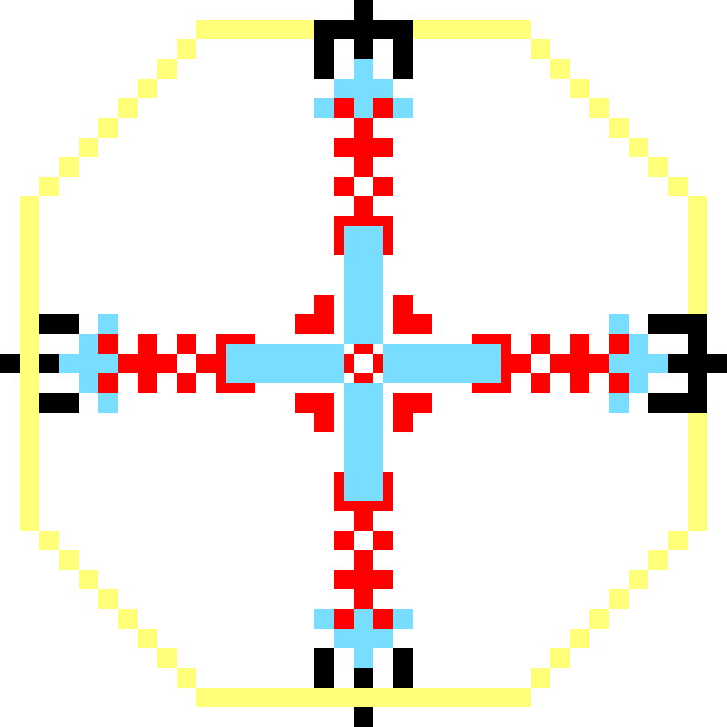 Текстовий слов'янський орнамент: кавьор