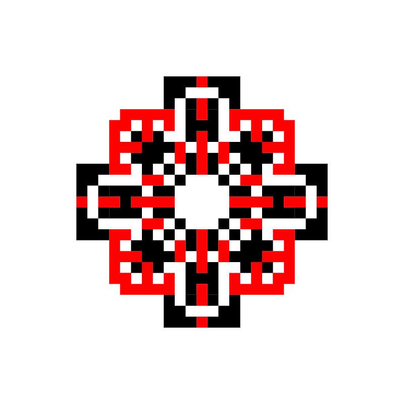 Текстовий слов'янський орнамент: Евгения