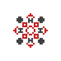 Текстовый украинский орнамент: Юна