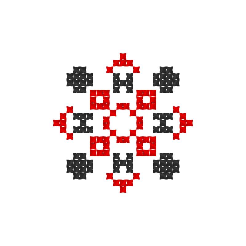 Текстовий слов'янський орнамент: Юна