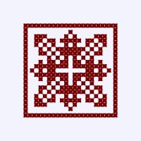 Текстовый украинский орнамент: Полісся
