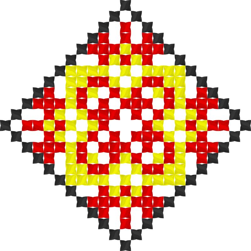 Текстовий слов'янський орнамент: АЗІЯ