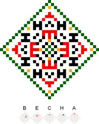 Текстовый украинский орнамент: Весна