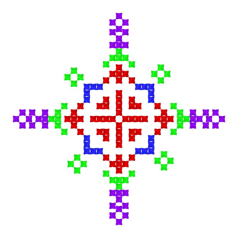 Текстовий слов'янський орнамент: Валя