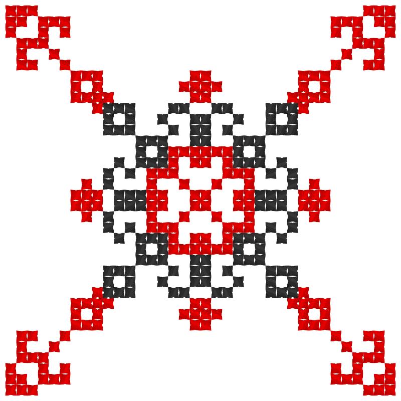Текстовий слов'янський орнамент: Боротьба