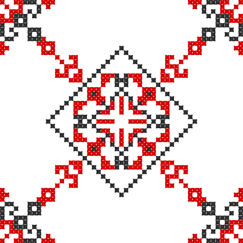 Текстовий слов'янський орнамент: Вільна боротьба