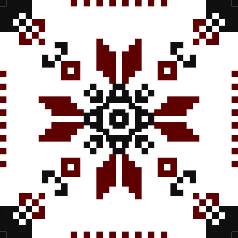 Текстовий слов'янський орнамент: Квітка життя