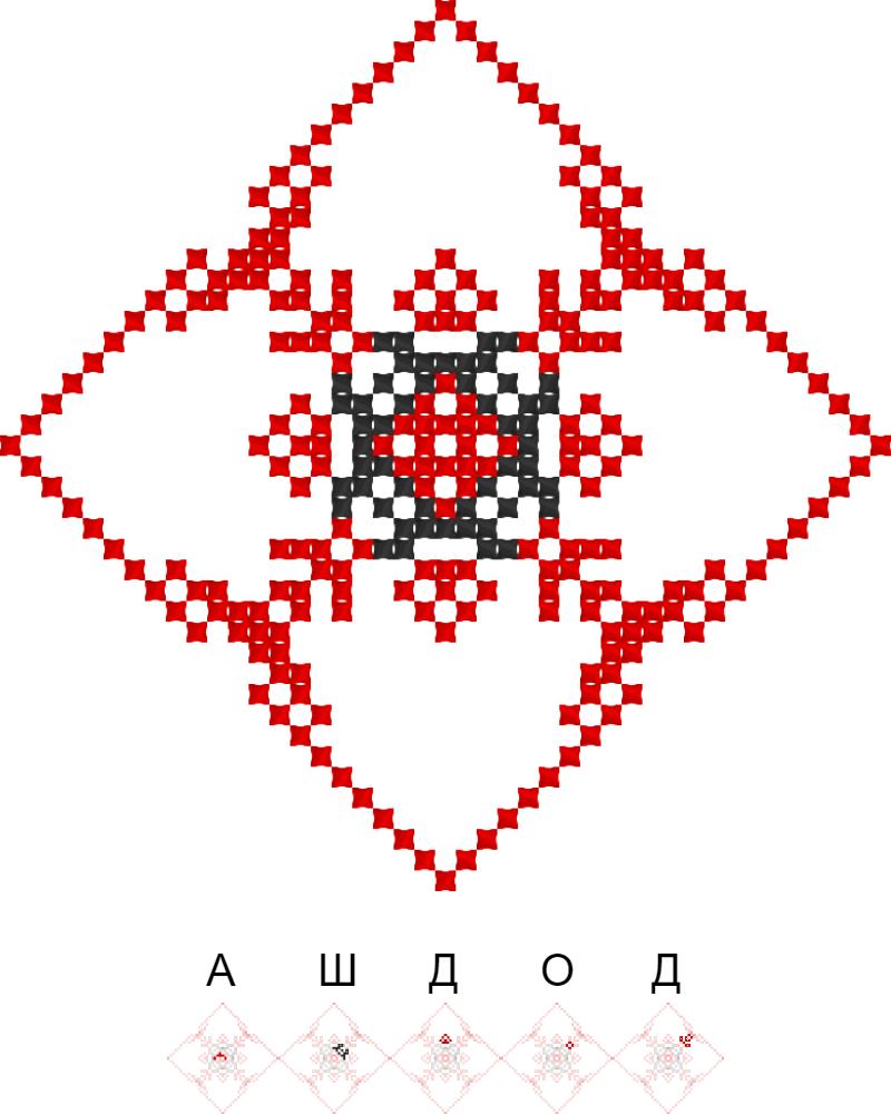 Текстовий слов'янський орнамент: Ашдод