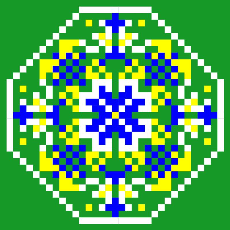 Текстовий слов'янський орнамент: БРАЗИЛІЯ