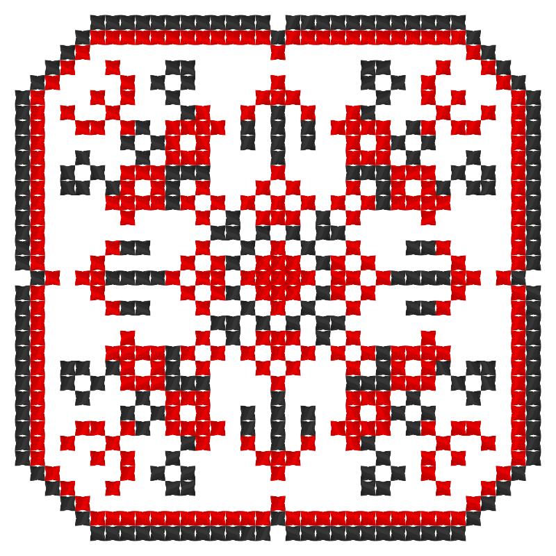 Текстовий слов'янський орнамент: ДВА КОЛЬОРИ