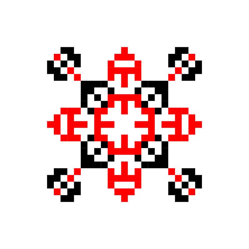 Текстовий слов'янський орнамент: Евеліна
