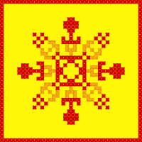 Текстовый украинский орнамент: сонце