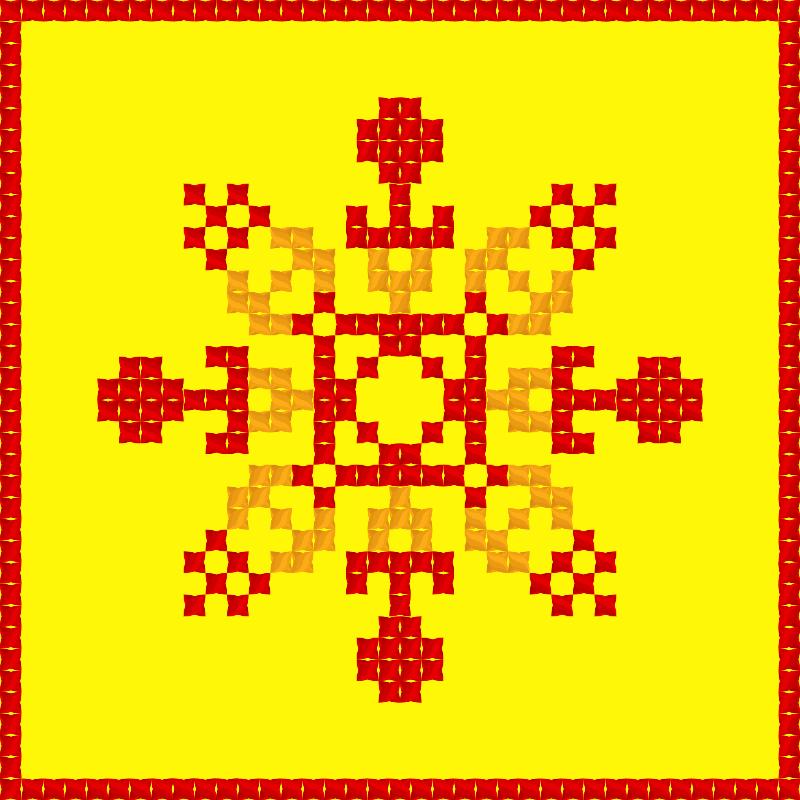 Текстовий слов'янський орнамент: сонце