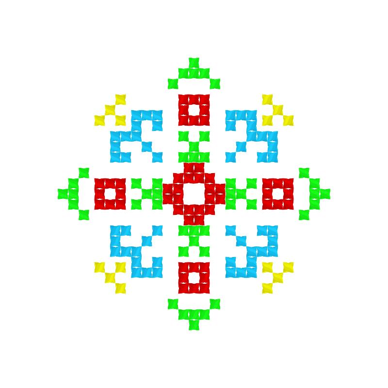 Текстовий слов'янський орнамент: АКБОТА