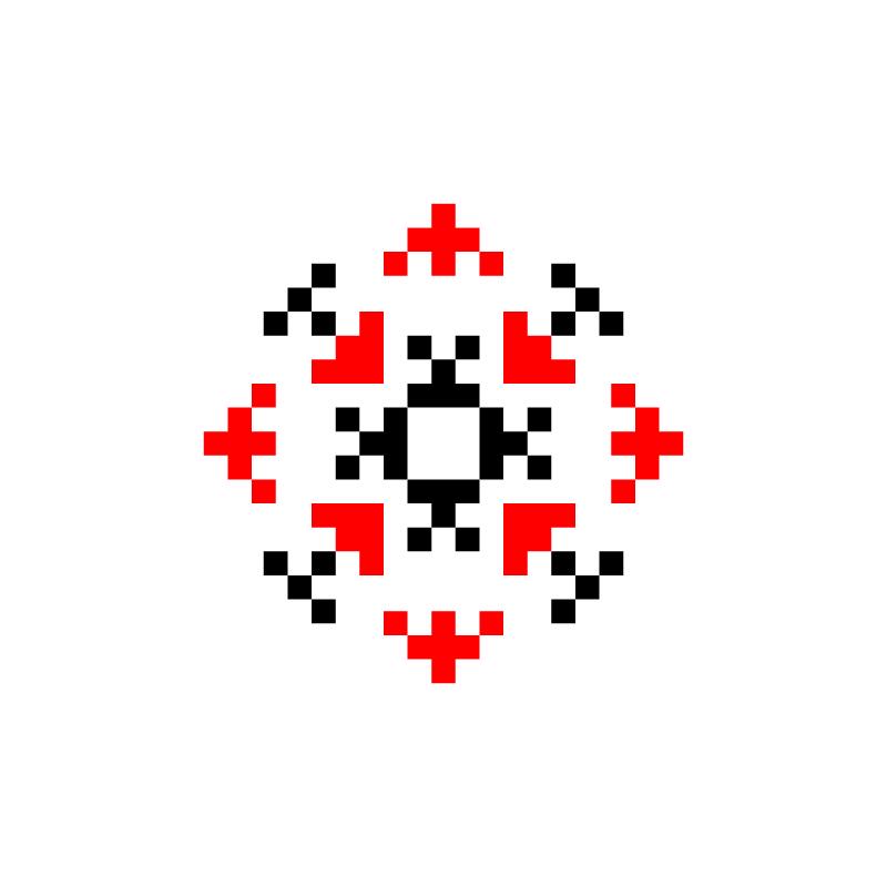 Текстовий слов'янський орнамент: Катя