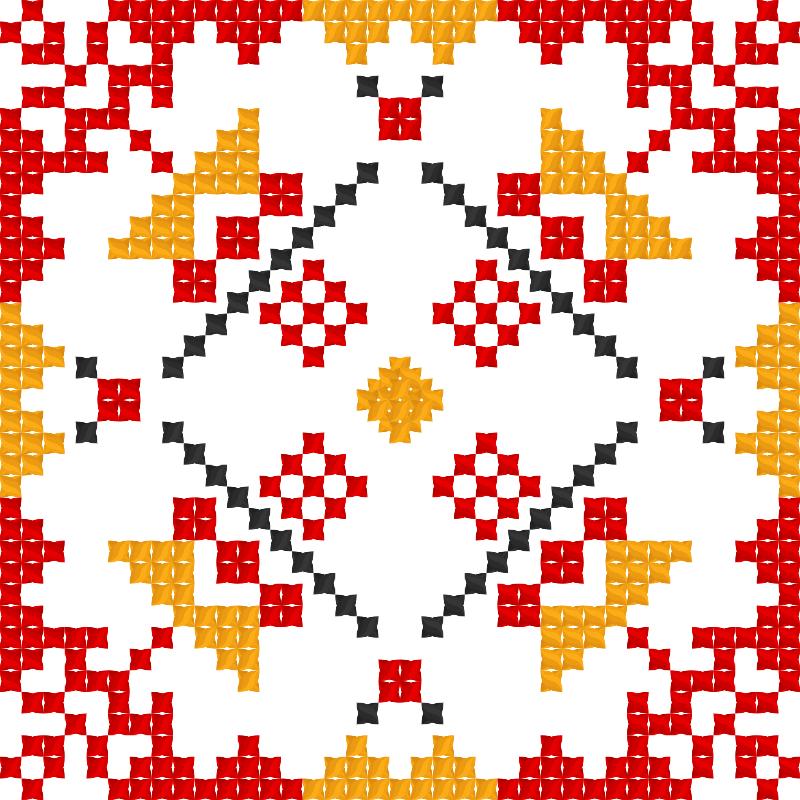 Текстовий слов'янський орнамент: Орнамент Аліни 2