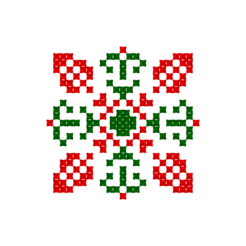 Текстовий слов'янський орнамент: Каріна