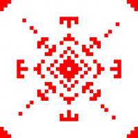 Текстовый украинский орнамент: звезда