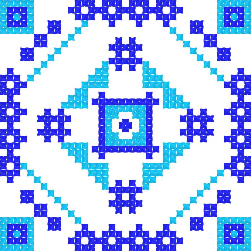 Текстовий слов'янський орнамент: незабутка