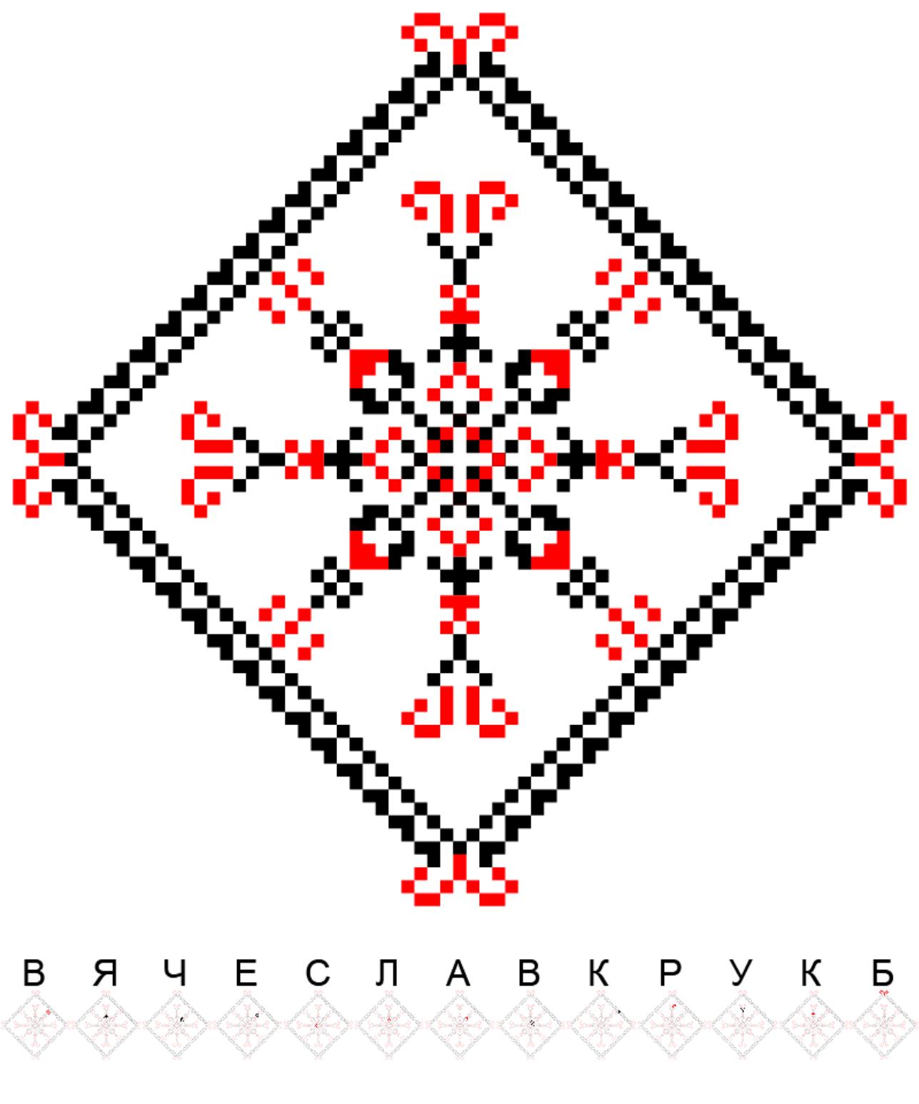 Текстовий слов'янський орнамент: квб