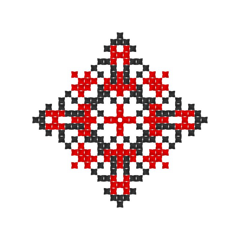 Текстовий слов'янський орнамент: М