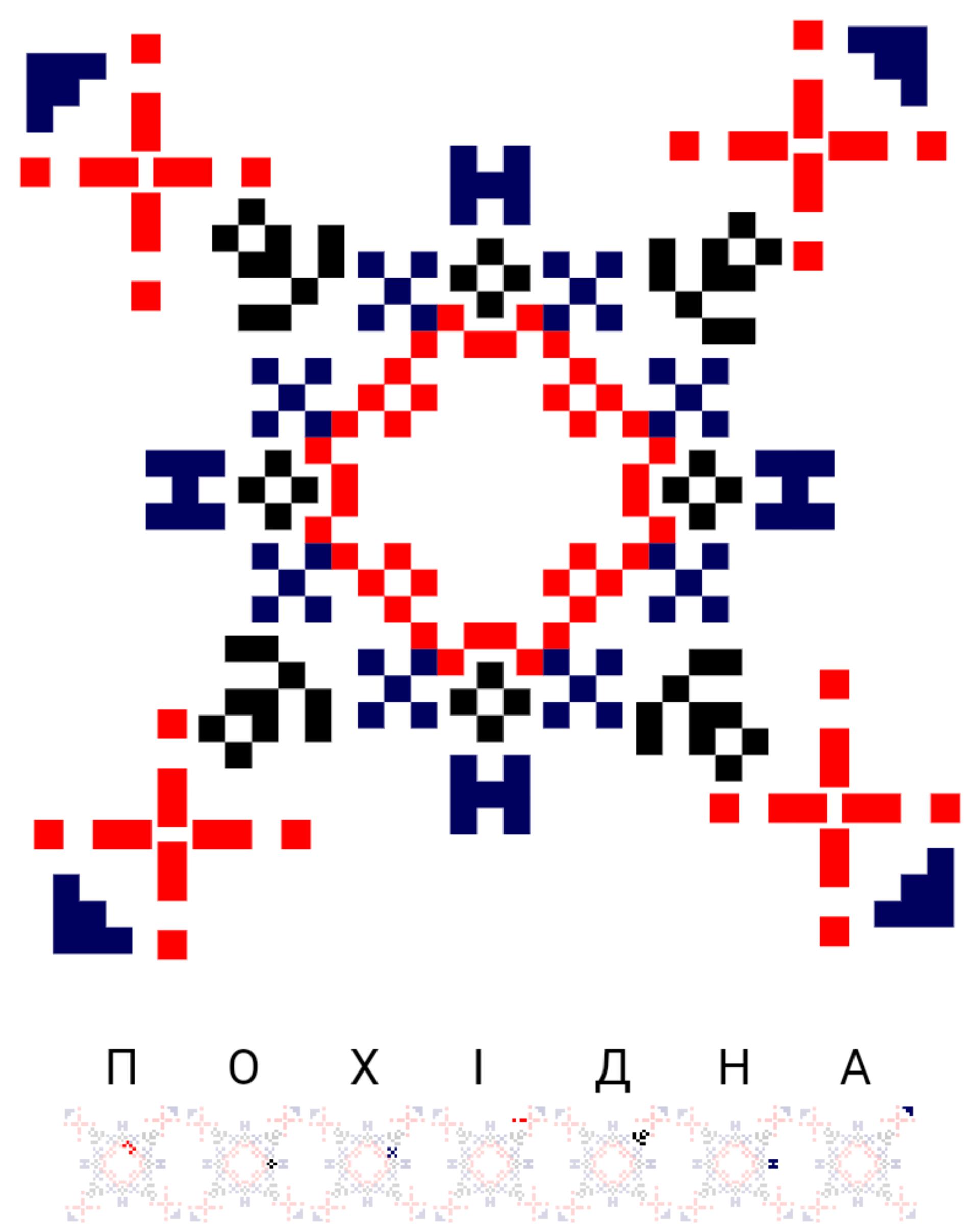 Текстовий слов'янський орнамент: Похідна