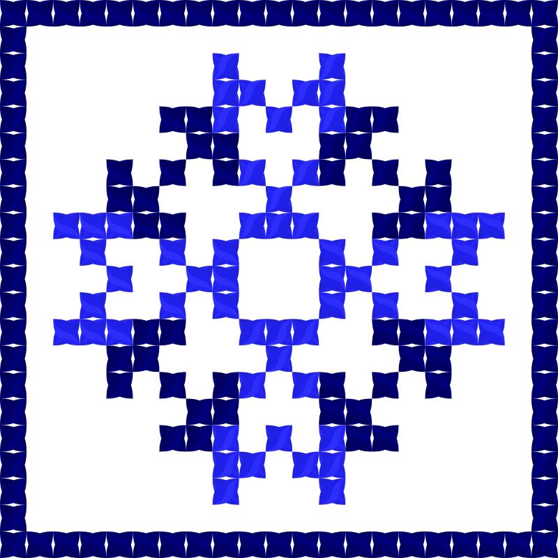 Текстовий слов'янський орнамент: ініціали
