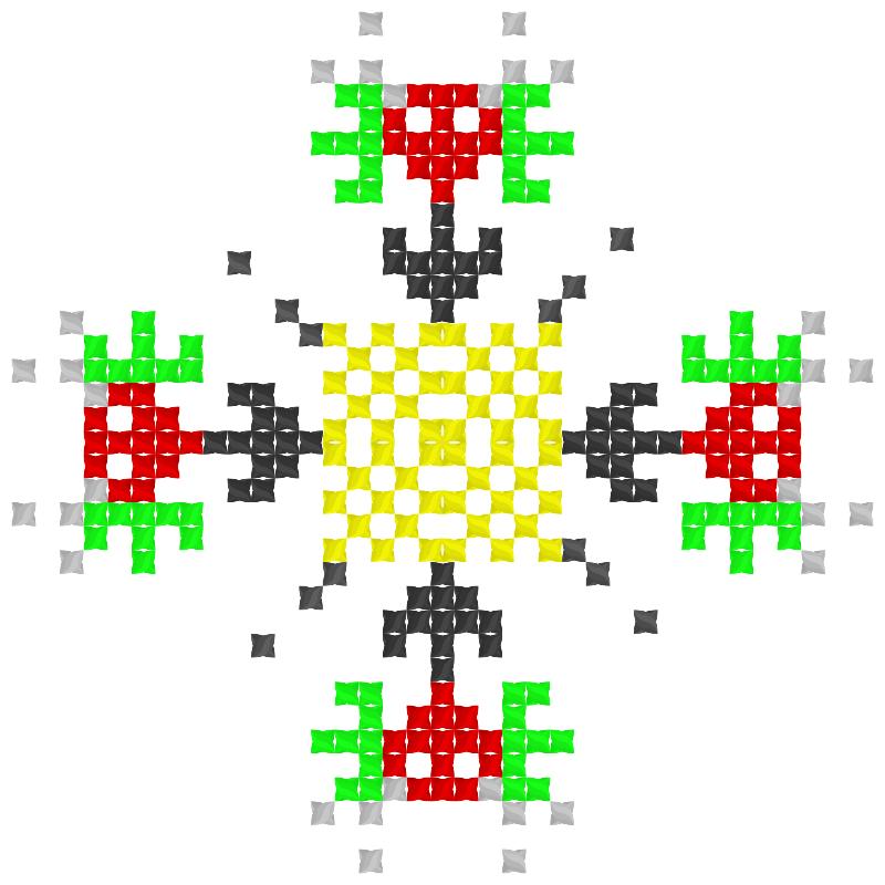 Текстовий слов'янський орнамент: скілет