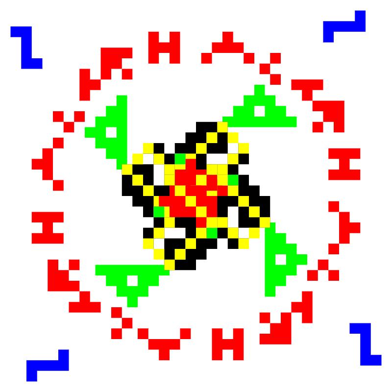 Текстовий слов'янський орнамент: вишиванка