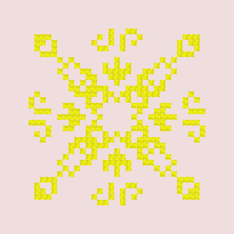 Текстовий слов'янський орнамент: 3 чакра Манипура
