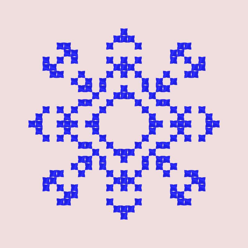 Текстовий слов'янський орнамент: 5 чакра Аджна