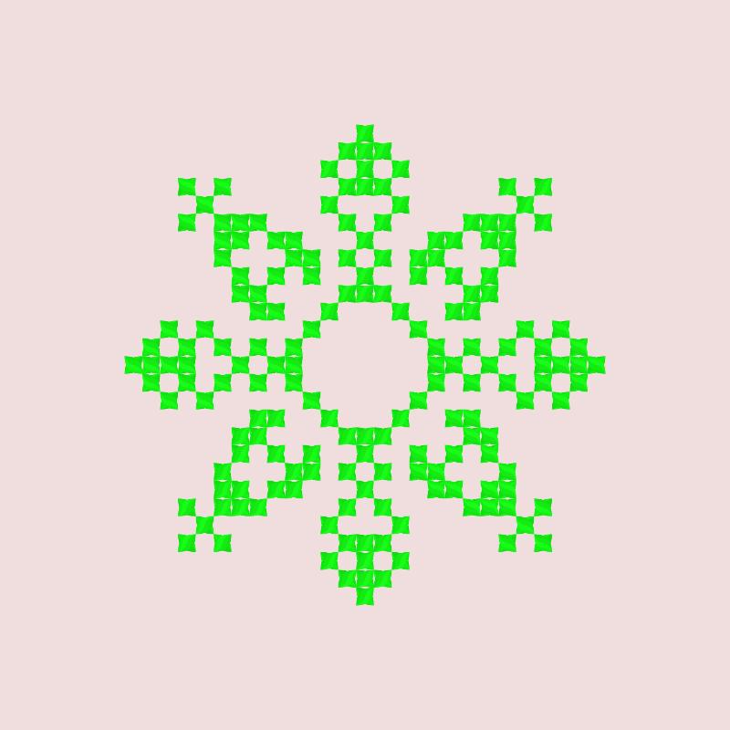 Текстовий слов'янський орнамент: 4 чакра Анахата