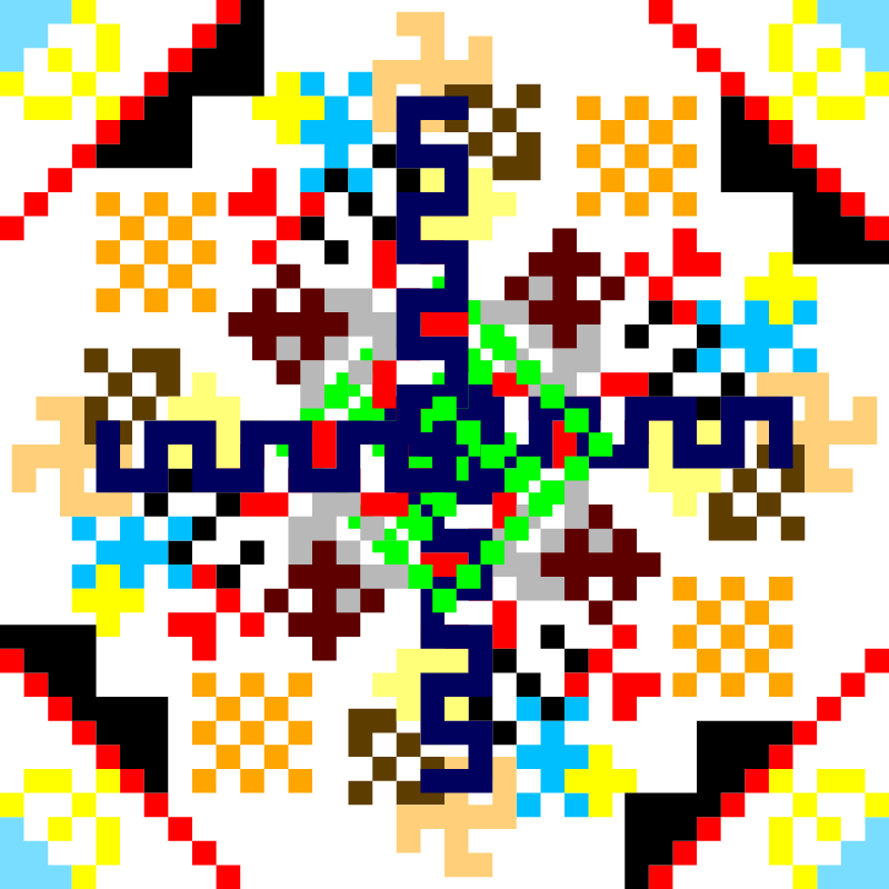 Текстовий слов'янський орнамент: Секрет