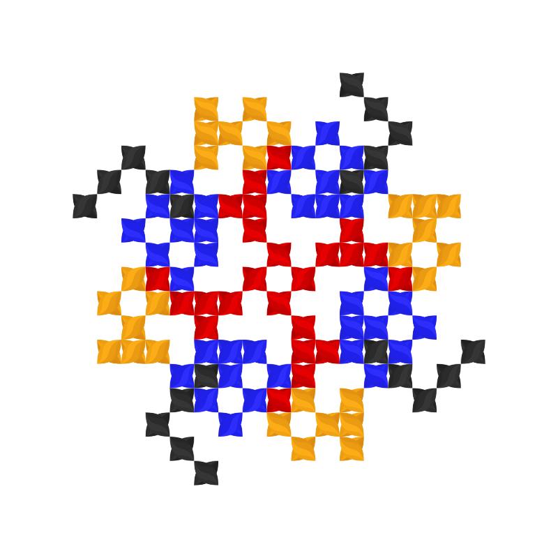 Текстовий слов'янський орнамент: имя
