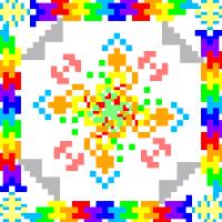 Текстовый украинский орнамент: цветок жизни