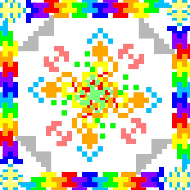 Текстовий слов'янський орнамент: цветок жизни