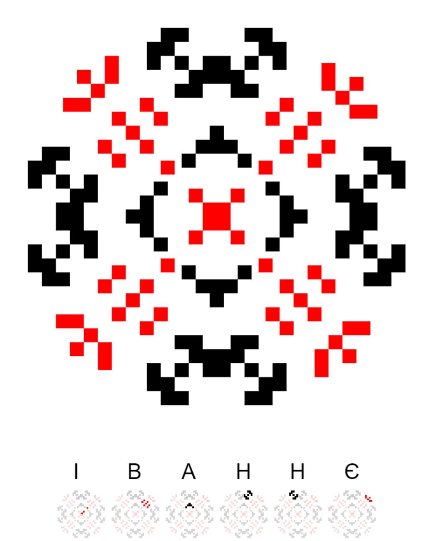 Текстовий слов'янський орнамент: Іваннє - моє село