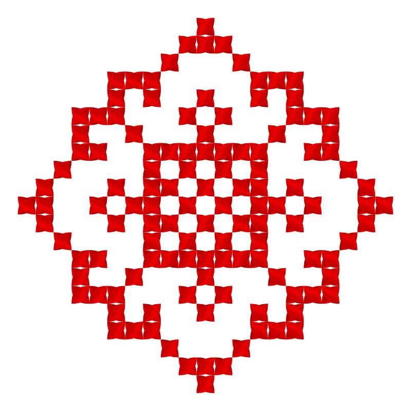 Текстовий слов'янський орнамент: Люба