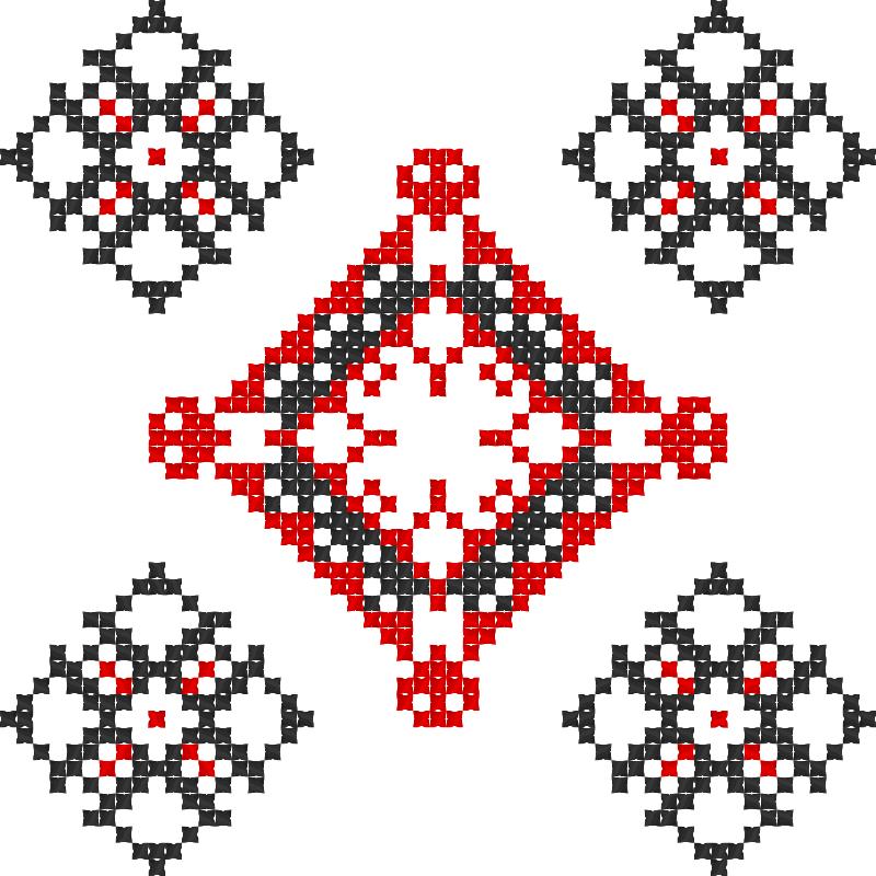 Текстовий слов'янський орнамент: Інна Бугай