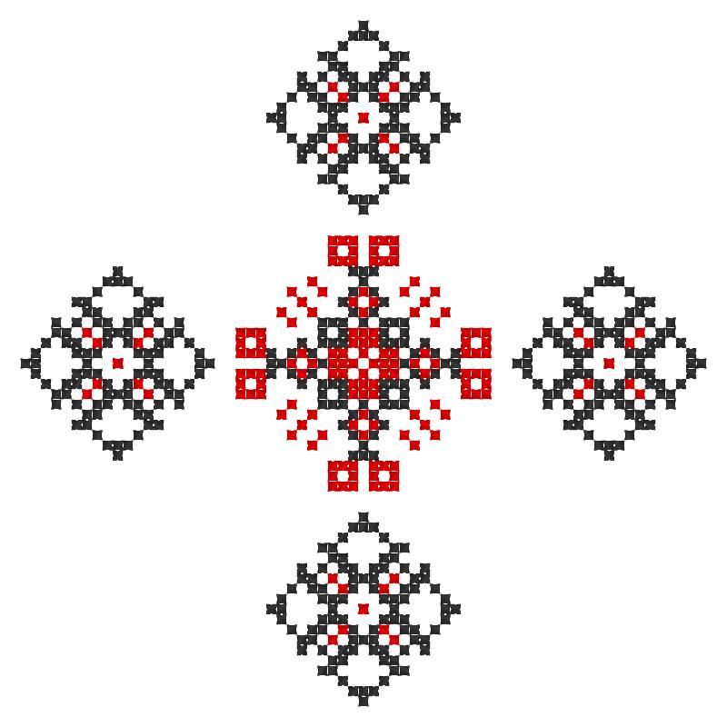 Текстовий слов'янський орнамент: Інна Головко