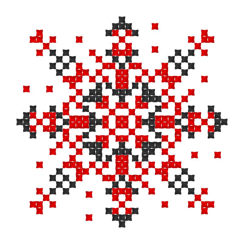 Текстовий слов'янський орнамент: Карамелька