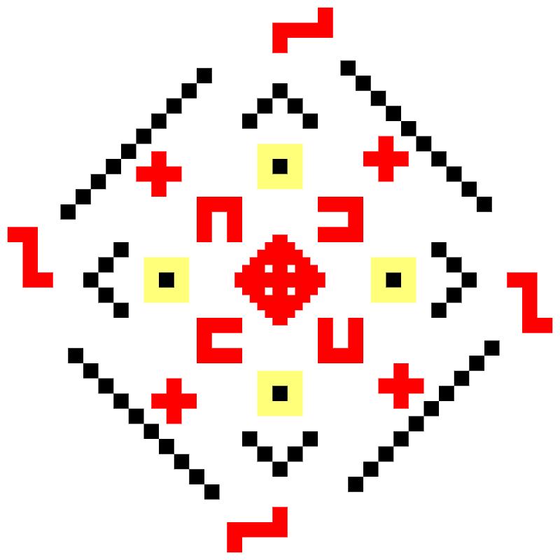 Текстовий слов'янський орнамент: Поля