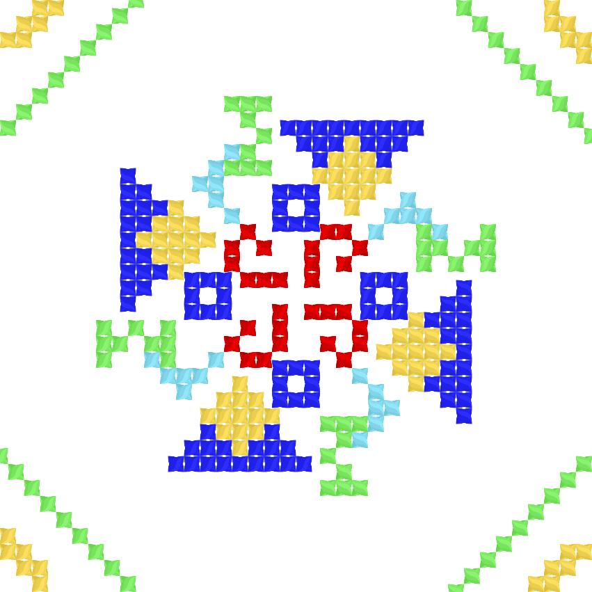 Текстовий слов'янський орнамент: Рома