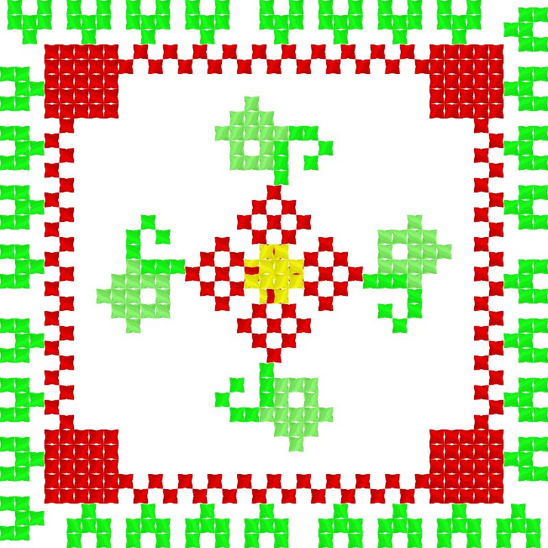 Текстовий слов'янський орнамент: роза