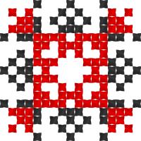 Текстовый украинский орнамент: Надія