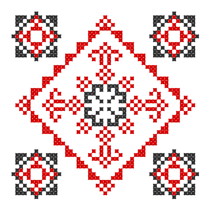 Текстовий слов'янський орнамент: Юля Безрода