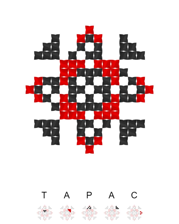Текстовий слов'янський орнамент: Тарас